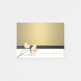 Elegant Chic  Stylish Girly ,Faux Gold,Rose Post-it Notes