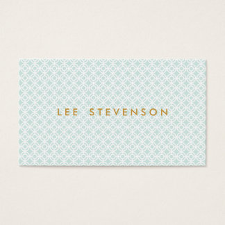 Elegant Chic Turquoise Lattice Pattern Business Card