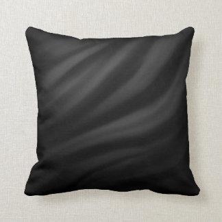 Elegant chic velvet black pattern textile throw pillows