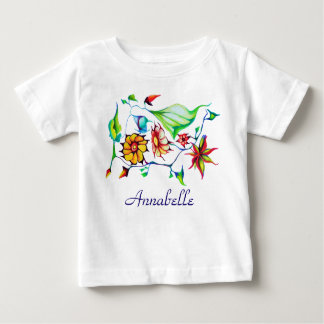 Elegant Chic Whimsical Enchanting Exotic Floral Baby T-Shirt