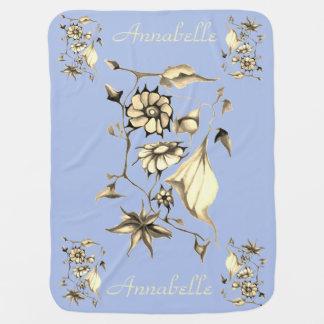 Elegant Chic Whimsical Enchanting Exotic Sepia Baby Blanket