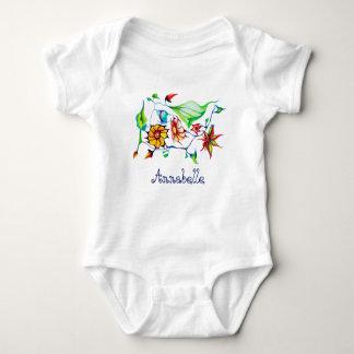 Elegant Chic Whimsical Exotic Flowers - Customize Baby Bodysuit