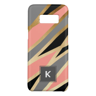 elegant chick abstract gold black grey coral pink Case-Mate samsung galaxy s8 case