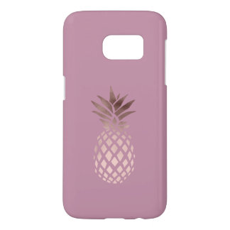 elegant chick clear rose gold tropical pineapple
