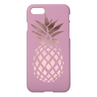 elegant chick clear rose gold tropical pineapple iPhone 8/7 case