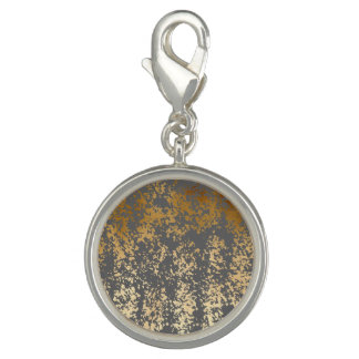 elegant chick faux gold and grey brushstrokes