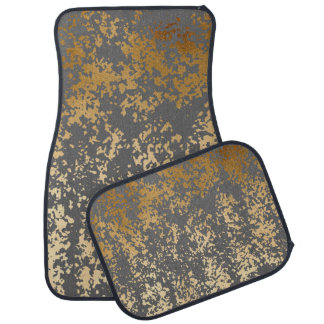 elegant chick faux gold and grey brushstrokes car mat