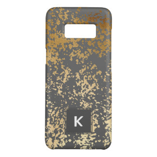 elegant chick faux gold and grey brushstrokes Case-Mate samsung galaxy s8 case