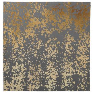 elegant chick faux gold and grey brushstrokes napkin
