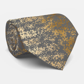 elegant chick faux gold and grey brushstrokes tie