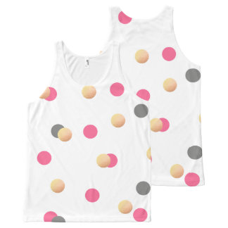 elegant chick faux gold grey pink confetti dots All-Over print singlet