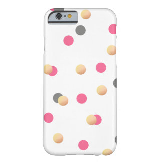 elegant chick faux gold grey pink confetti dots barely there iPhone 6 case