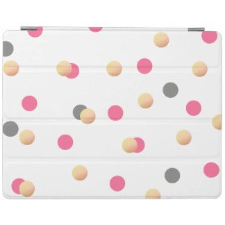 elegant chick faux gold grey pink confetti dots iPad cover