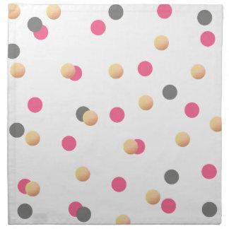 elegant chick faux gold grey pink confetti dots napkin