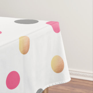 elegant chick faux gold grey pink confetti dots tablecloth