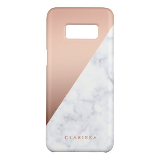 elegant chick geometric white marble rose gold Case-Mate samsung galaxy s8 case