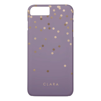 elegant chick glam rose gold confetti dots violet iPhone 8 plus/7 plus case