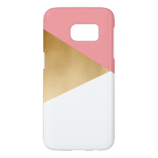 elegant chick modern faux gold pink geometric