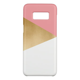 elegant chick modern faux gold pink geometric Case-Mate samsung galaxy s8 case