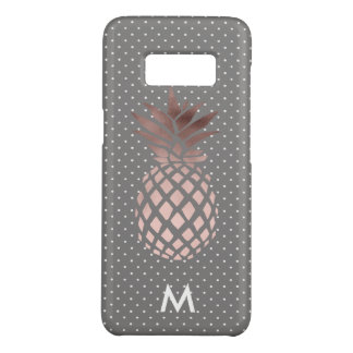 elegant chick rose gold pineapple polka dots Case-Mate samsung galaxy s8 case
