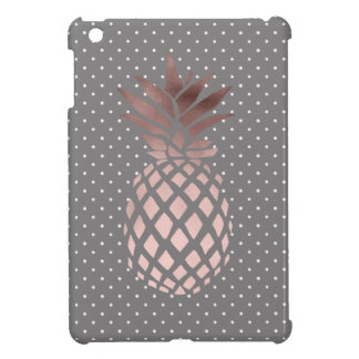elegant chick rose gold pineapple polka dots iPad mini cover