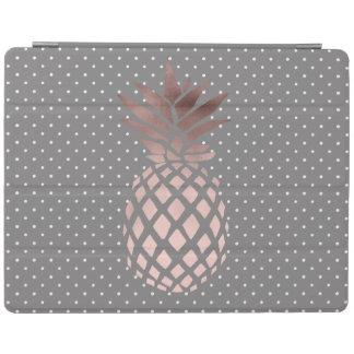 elegant chick rose gold pineapple polka dots iPad smart cover