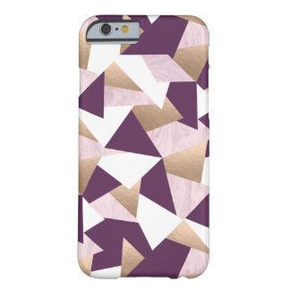 elegant chick rose gold pink marble geometric barely there iPhone 6 case