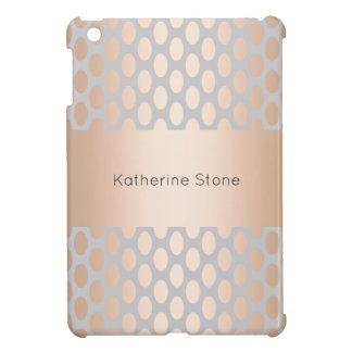 Elegant Chick Rose Gold Polka Dots Pattern Grey Case For The iPad Mini
