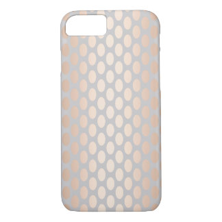 Elegant Chick Rose Gold Polka Dots Pattern Grey iPhone 8/7 Case