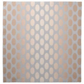 Elegant Chick Rose Gold Polka Dots Pattern Grey Napkin
