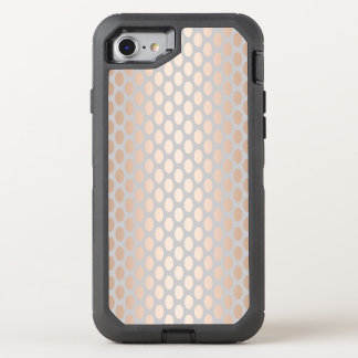 Elegant Chick Rose Gold Polka Dots Pattern Grey OtterBox Defender iPhone 8/7 Case