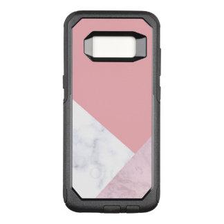 elegant chick white pastel pink marble geometric OtterBox commuter samsung galaxy s8 case