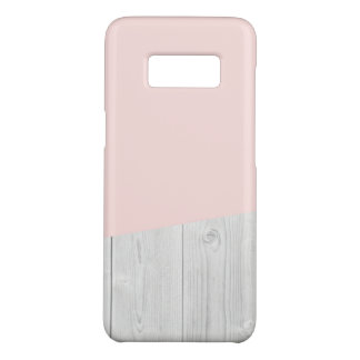 elegant chick white pastel pink wooden geometric Case-Mate samsung galaxy s8 case