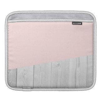 elegant chick white pastel pink wooden geometric iPad sleeve