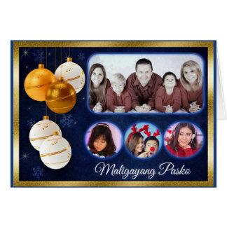 Elegant Christmas Card in Filipino Texts