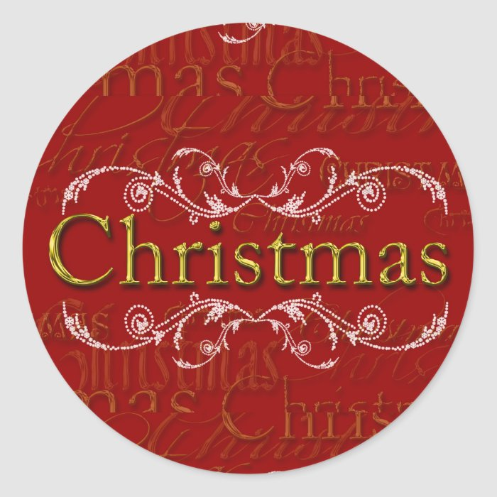Elegant Christmas Design Custom Christmas Stickers