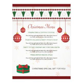 Elegant Christmas Dinner Menu Card 21.5 Cm X 28 Cm Flyer