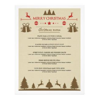 Elegant Christmas Dinner Menus Card 21.5 Cm X 28 Cm Flyer