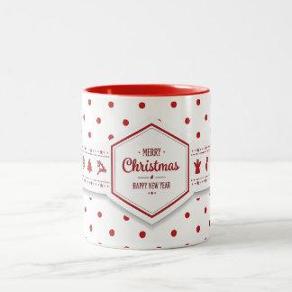 Elegant Christmas Dots Mug