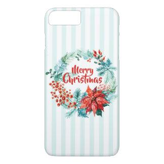 Elegant Christmas Floral Wreath | Phone Case