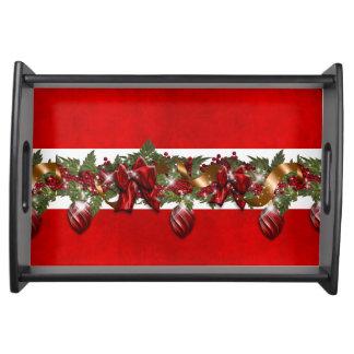 Elegant Christmas garland tree decoration Service Tray