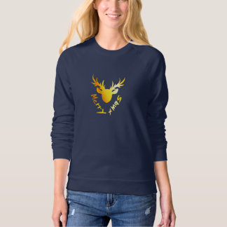 Elegant Christmas Golden Reindeer Women's T-shirt