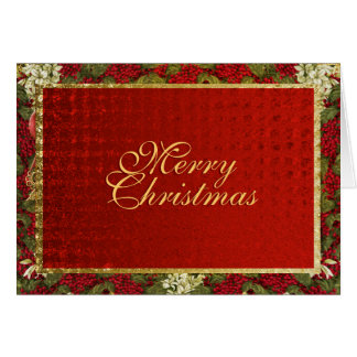 Elegant Christmas greeting traditional xmas Card