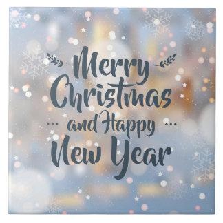 Elegant Christmas & Happy New Year | Ceramic Tile