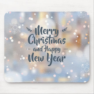 Elegant Christmas & Happy New Year | Mousepad