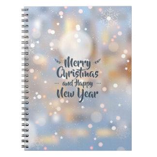 Elegant Christmas & Happy New Year | Notebook
