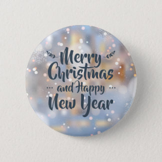 Elegant Christmas & Happy New Year | Pin Button
