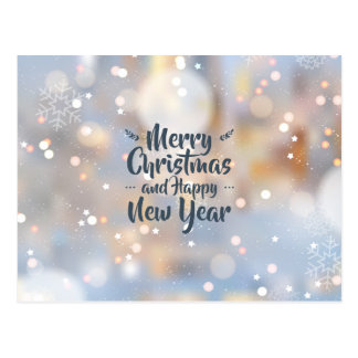 Elegant Christmas & Happy New Year | Postcard