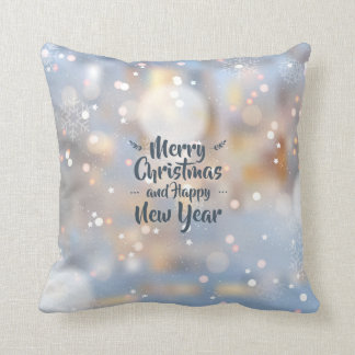 Elegant Christmas & Happy New Year | Throw Pillow