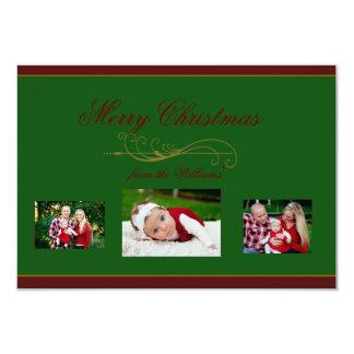 Elegant Christmas Holiday Family Photo Card 9 Cm X 13 Cm Invitation Card